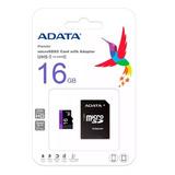 Memoria Micro Sd 16gb Adata Clase 10 Adaptador Premier Nueva