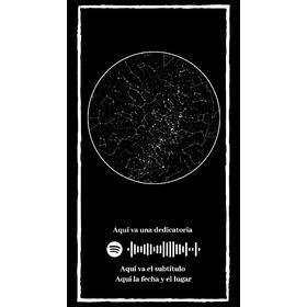 Mapa De Estrellas Digital 100% Personalizable