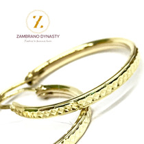 1e30e9d06e34 Aretes Arracadas Oro Solido 10k 2.5 Cm Diamantadas en venta en ...