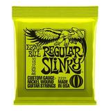 Paqete Cuerdas Guitarra Ernie Ball Regular Slinky 10-46 2221