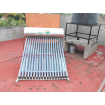 Calentador Solar 215 Litros 18 Tubos Acero Inoxidable
