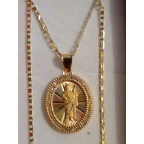 4ad41214e8d8 Cadena De Oro Y Medalla De San Judas En Oro De 10k en venta en ...