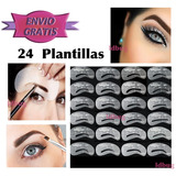 Set 24 Plantillas De Cejas Con Guias Maquillaje Profesional