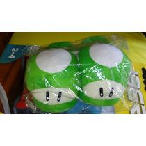 Bonitas Pantunflas De Honguito Verde De Mario Bros