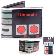Cartera Nintendo Billetera Original Control Nes Retro Gamer