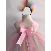 Vestido Tutu Unicornio Bebe Pony Pastel Talla 2 Largo En