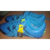 Tacos Adidas Profesionales X 15.1 Fg/ag 100%originales Azul