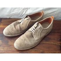 Zapatos Ecco Estilo Bostoniano En Piel De Ante