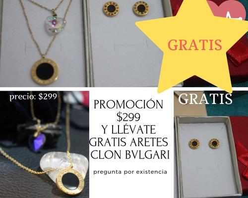 c20b73ec46ac Promoción Gratis Aretes Clon Bvlgari En Compra Collar Doble. en venta en  Puebla Puebla por sólo   299