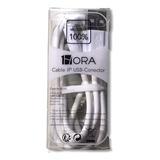 Cable Stela 1hora Usb 2.1a iPhone Uso Rudo Carga Rapida 1 Mt