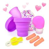 Copa Menstrual Certificada Fda + Esterilizador + Kit De Limpieza + Bolsa · Íntima Ecológica Higiene Femenina Reusable