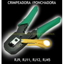 Pinza Crimpeadora / Ponchadora Rj9 / Rj11 / Rj12 / Rj45