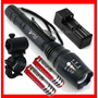 Lampara Tactica 3300 Lumens Cree Led Xlm-t6 Recargable Zoom