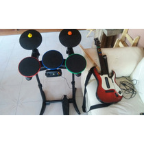 Guitar Hero Warriors Of Rock, Bateria,guitarra Y Microfono