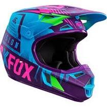 Casco Fox V1 Vicious Azul Niño 2016 Motocross Atv Talla Ym