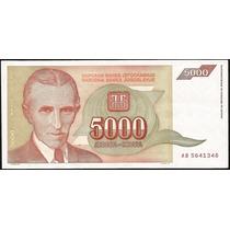 Grr-billete De Yugoslavia 5000 Dinara 1993 - Nikola Tesla
