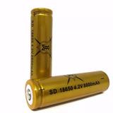 1 Bateria Recargable Gold 18650 4.2v 8800 Mah Li-ion Te884