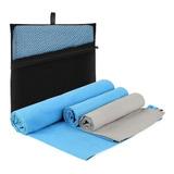 3 Toallas De Microfibra Deportiva P/ Gym Yoga Secado Rapido