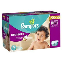 Pampers Cruisers Pañales Tamaño 4 Economía Paquete Plus 152