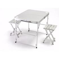 Mesa Portatil Plegable Aluminio Ultra Ligera 2 Personas