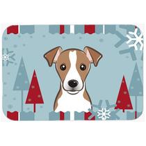 Vacaciones De Invierno De Jack Russell Terrier De Cristal Ta