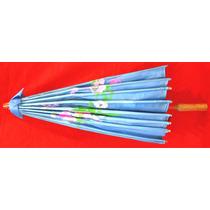 Sombrilla China De Tela Tradicional Varios Colores