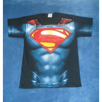 Playera Camiseta Superman Man Of Steel Traje Torso Cosplay