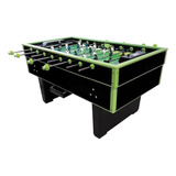 Futbolito Diversiones Bago Super Reforzado Color Negro Y Verde Con Jugadores De Hierro Vaciado Y Bolas Incluidas