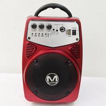 Bafle Amplificado Recargable Bocina Portatil 6 Usb Aux Mp3