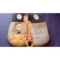 25-29 Pantuflas Homero Simpson Originales Pago Contado Cynld