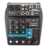 Interfaz Interface De Audio Usb Bluetooth Mezcladora 4 Ch