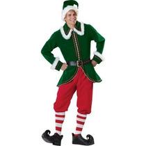 Disfraz De Ayudante De Santa Claus, Navidad, Duende, Adultos