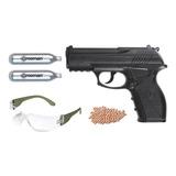 Pistola Crosman P10 Kit De Plastico Co2 De Bbs 4.5mm (p10kt)