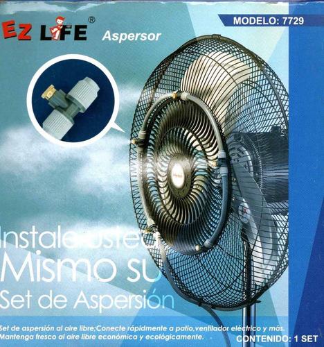 Kit de aspersores de agua para ventilador alberca jardin - Ventiladores de agua ...