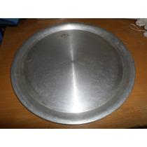 Charola De Aluminio Grueso Usada De La Ideal Diam 46.7 X 2