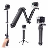 Baston Selfie Tripie P/gopro Go Pro Pole 3-way Envio Gratis