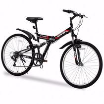 Bicicleta De Montaña Plegable 7 Velocidades De 26