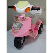 Moto Vespa Motorizada Para Niños Con Sonidos Y Luces
