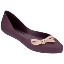 Mel Dreaming Zapato Flat Dama Balerina Bordo Mel By Melissa