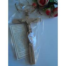 Recuerdo Aniversario Luctuoso Crucifijo De Madera