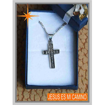 Dije De Plata Cruz Jesus Es Mi Camino