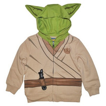 Star Wars Sudadera Chamarra Niño Del Maestro Yoda Disney T-5