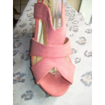 Qupid Lindos Zapatos Wedges Color Salmon 25-5