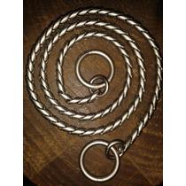 Collar Holandés De Exhibición 55cm Satinado Eslabón Víbora