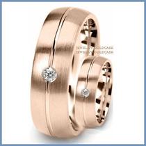 Argollas De Matrimonio Mod. Cambridge Oro Rosa 10k Solido