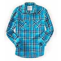 Camisa Manga Larga Aeropostal Caballero Estilo 9788 Azul