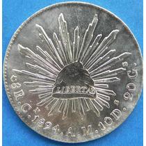 Moneda México 8 Reales Culiacan 1894 A M Condicion !!