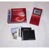 Nintendo Game Boy Advance Sp Flame Completo En Caja !