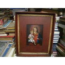Óleo Sobre Lámina - Miniatura - Virgen María Con Niño Jesús