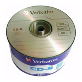 Cd -r Verbatim 700mb 52x Torre Con 50 #97488 Facturado Full
